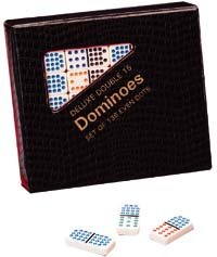 Double 15 Color Dot Dominoes Set